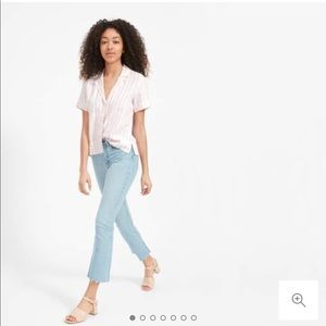Everlane Linen Notch Short Sleeve Shirt